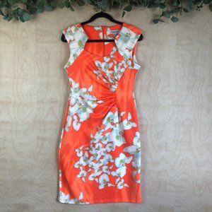 Shelby & Palmer Neon Orange Floral Mini Dress